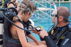 Diving instructors and diving students in the diving course / Foto: TCCC / web