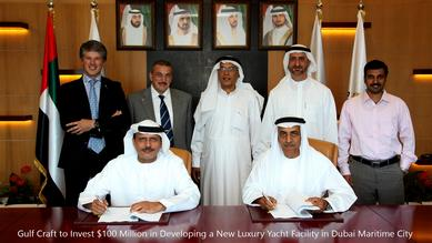 Gulf Craft and DMC Officials during the agreement