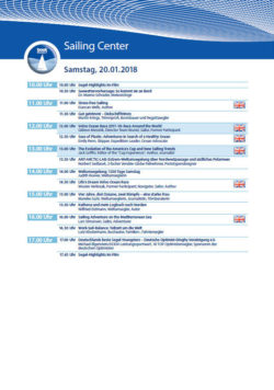 Stage programme Sailing Center boot 2018