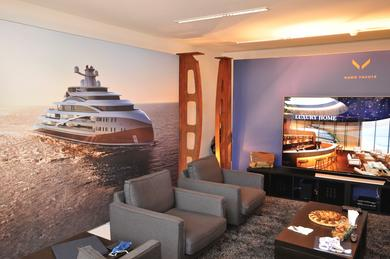 Hawk Yachts Lounge within the Monaco Yacht Club