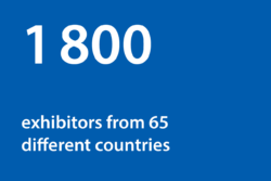 Graphic: 1800 exhibitors from 65 countries
