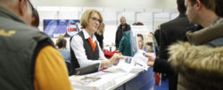 Photo: information desk at the trade fair