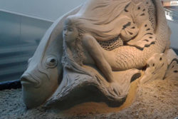 Sand sculptures underwater world