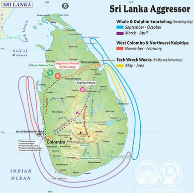 Sri Lanka Aggressor Itineraries!