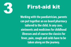 Grafik: © boot.de / With the pediatrician, parents can create an on-board pharmacy tailored to the child. Medication against childhood diseases must be taken along.