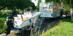 Caravan with trailer boat / Foto: TCCC / web