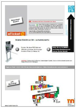 Graphic: Advertisement on the eTickets