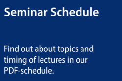 boot Buewater Seminar 2018 - Topics and timings of lectures.