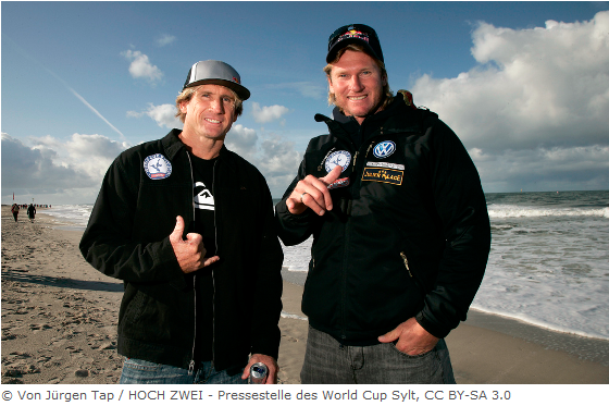 Robby Naish (left) & Bjørn Dunkerbeck at Windsurf World Cup Sylt 2009
